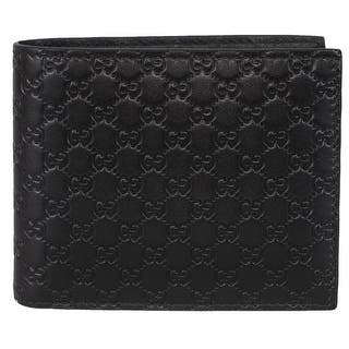 Gucci Men's 260987 Black Leather MICRO GG Guccissima Bifold Wallet|https://ak1.ostkcdn.com/images/products/is/images/direct/bfa32cda96fb9f1628a35acd319c12981576b7d8/Gucci-Men%27s-260987-Black-Leather-MICRO-GG-Guccissima-Bifold-Wallet.jpg?impolicy=medium