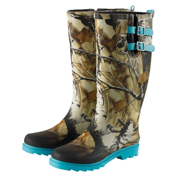 Legendary Whitetails Women's Big Game Camo Storm Chaser Rain Boots - Glacier