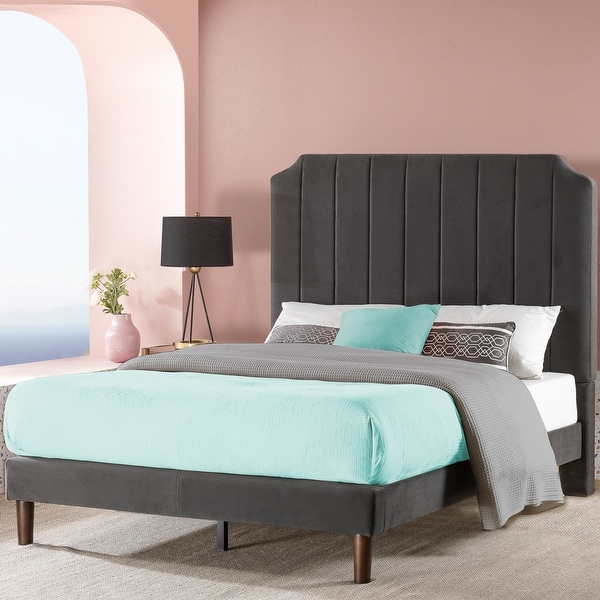 Priage by ZINUS slate black Upholstered Platform Bed Frame. Opens flyout.