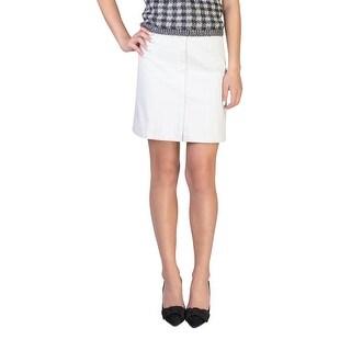 Prada Women's Cotton Skirt White - 6