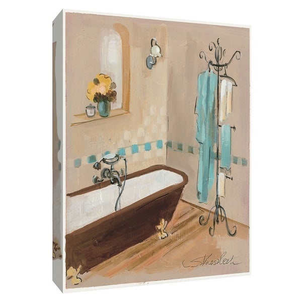 "PTM Images 9-154856 PTM Canvas Collection 10"" x 8"" - ""Pastel Bathroom II"" Giclee Bathroom Art Print on Canvas"