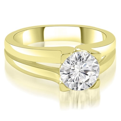 1.00 cttw. 14K Yellow Gold Thick Split Shank Round Diamond Engagement Ring