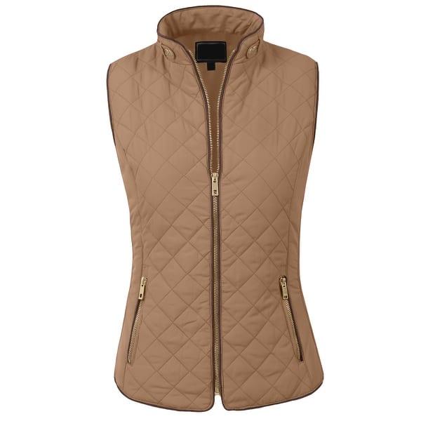 NE PEOPLE Womens Lightweight Quilted Zip Vest [NEWV60] - Overstock -  13680170