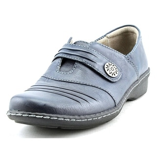 Naturalizer Response Women WW Round Toe Leather Blue Loafer