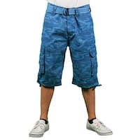 MO7 Young Men's Camo-Print Belted Cargo Short
