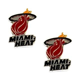 Miami Heat Post Stud Logo Earring Set NBA Charm