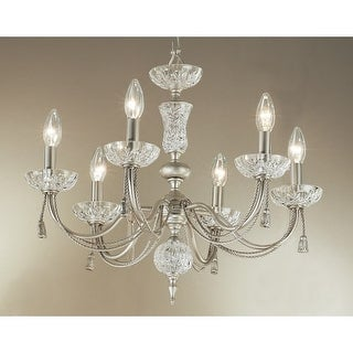 "Classic Lighting 5486 19"" Traditional Chandelier from the Weatherford Rope Collection"