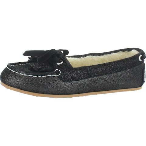 Sperry Womens Molly Boat Shoes Suede Round Toe - Black Pixel - 6 Medium (B,M)