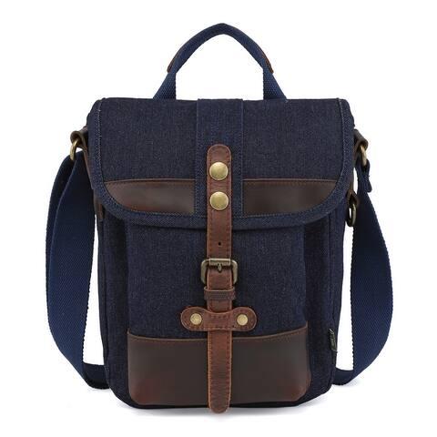 TSD Brand Valley Trail Canvas Crossbody Bag