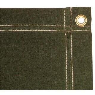 5 x 7 ft. Canvas Tarp - Olive Drab