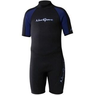 NeoSport Wetsuits 2mm Kid's Shorty - Black/Navy