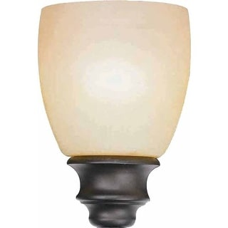 "Volume Lighting GS-412 4.75"" Height Amber Glass Oval Shade"