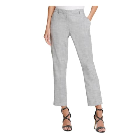 DKNY Womens Gray Pocketed Zippered Pants Size 18