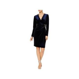 Calvin Klein Womens Cocktail Dress Velvet Shimmer