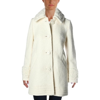 Free People Womens Pea Coat Wool Blend Textured