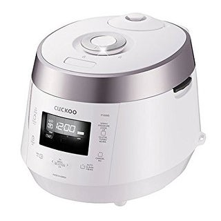 CUCKOO CRP-P1009SW 10 Cup Electric Pressure Rice Cooker, 120V - White