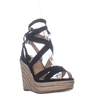 850f2ce8cc5 Splendid Janice Espadrille Wedge Strappy Sandals, Black - 7 US |  Overstock.com Shopping - The Best Deals on Sandals