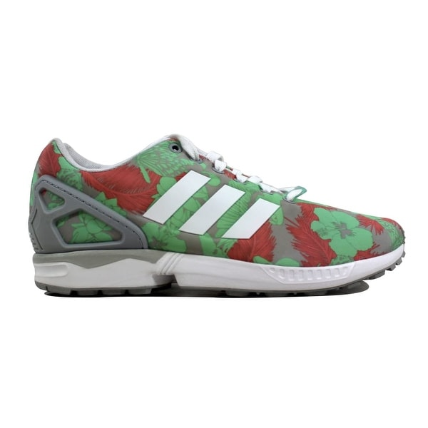 801b7a24feeac Shop Adidas ZX Flux W Light Onix White-Pink Floral Women s M19456 ...
