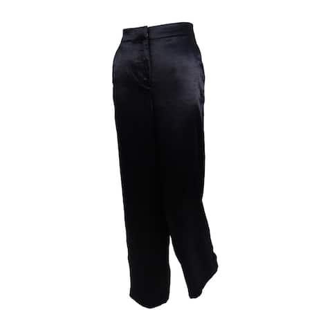 Vince Camuto Women's Satin Wide-Leg Pants - Black