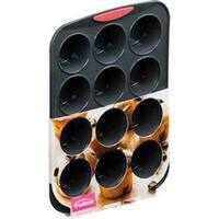 12 Cavity - Silicone Muffin Pan Gray/Coral