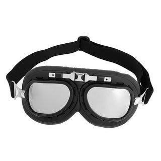 Adjustable Elastic Strap Silver Tone Lens Ski Goggles
