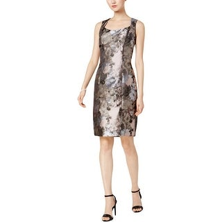 Kasper Womens Petites Wear to Work Dress Floral Print Sheath