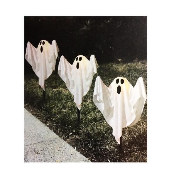Spooky Ghost Lawn Stake Halloween Prop