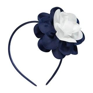 French Toast Girls Two Tone Flower Headband