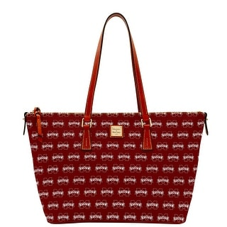 Dooney & Bourke NCAA Mississippi State Zip Top Shopper (Introduced by Dooney & Bourke at $248 in Jul 2015) - Rouge