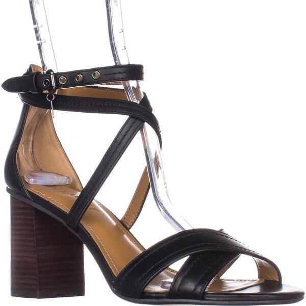 Coach Phoebe Strappy Block Heel Sandals, Black