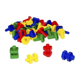 Edx Manipulatives Nuts and Bolts, Ages 3 and Up, Set of 64