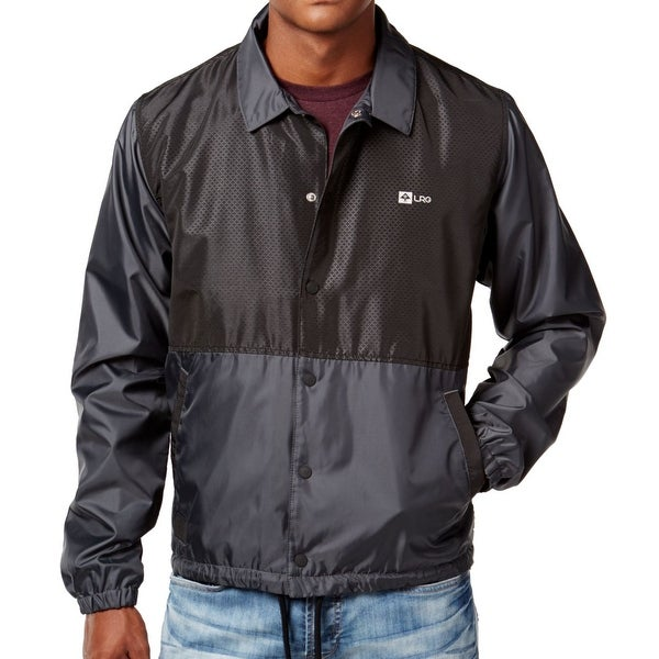 LRG NEW Deep Black Mens Size 2XL High-Definition Windbreaker ...