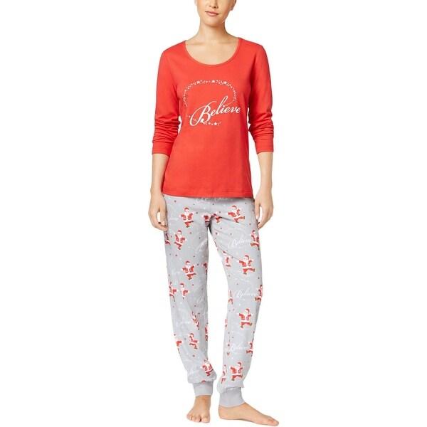 Christmas Pajamas Womens.Family Pjs Womens Believe Two Piece Pajamas Christmas Holiday