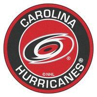 NHL Carolina Hurricanes Rounded Non-Skid Mat Area Rug