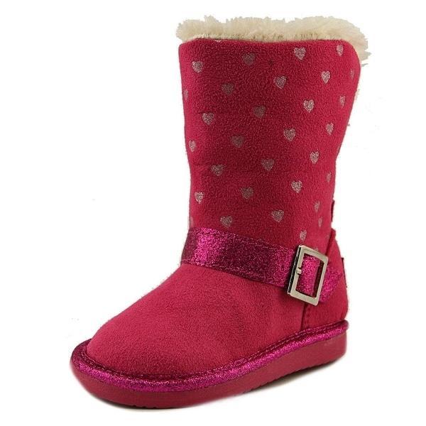 Osh Kosh Iris-G Toddler  Round Toe Canvas Pink Winter Boot