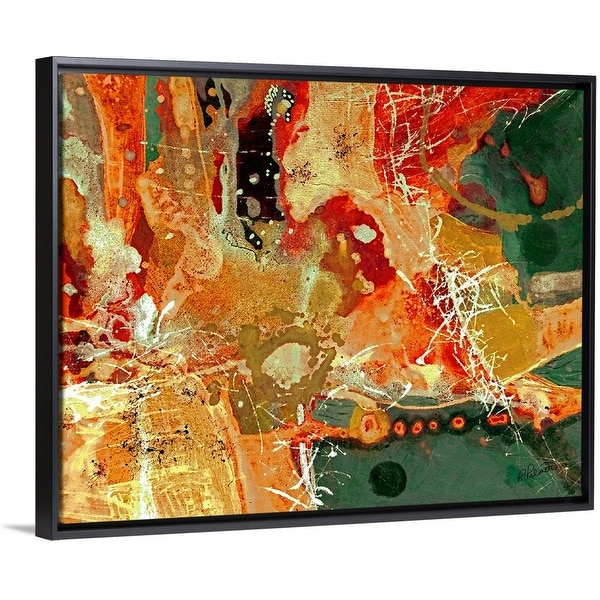 """""""I Will Pour Out My Spirit"""" Black Float Frame Canvas Art"""