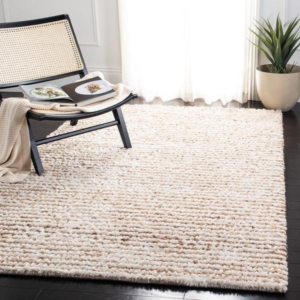 Safavieh Handmade Aspen Shag Ashton Solid Wool Rug. Opens flyout.