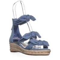 Nine West Allegro Bow Espadrilles Sandals, Light Blue Denim - 7.5 us