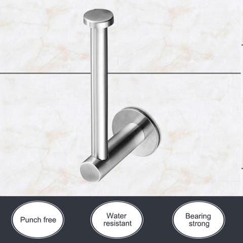 Toilet Paper Holder Wall Mount Self-stick Stainless Steel Bathroom Paper Roll