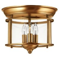 Hinkley Lighting 3473 3 Light Semi-Flush Ceiling Fixture from the Gentry Collection