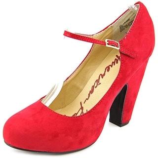 American Rag Jessie Women  Round Toe Canvas Red Mary Janes