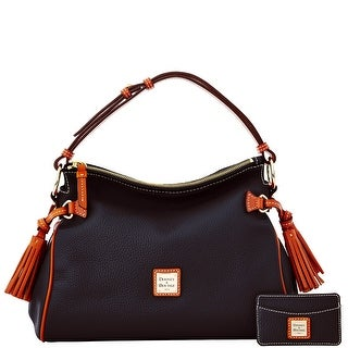 Dooney & Bourke Pebble Grain Satchel and Card Case (Introduced by Dooney & Bourke at $295 in Dec 2014) - Black