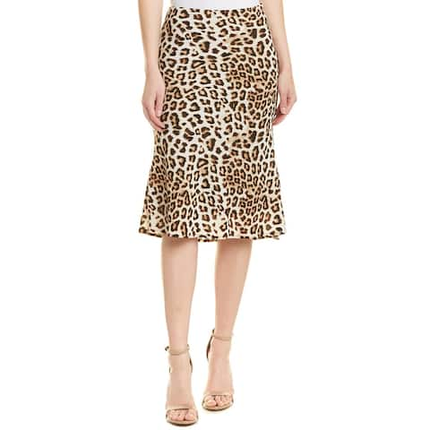 Fore Printed Pencil Skirt