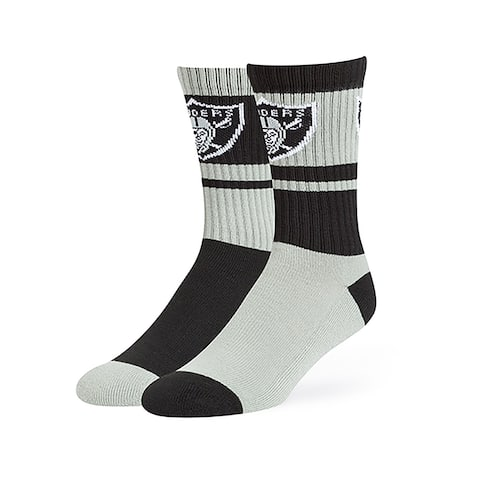 NFL Oakland Raiders Wentworth Crew Crew Socks by Fan Favorite - Multi-Color