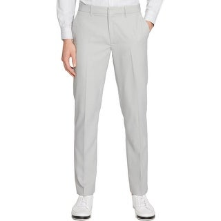 Kenneth Cole Reaction Mens Dress Pants Pindot Flat Front