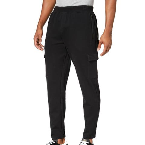 Ideology Mens Cargo Sweatpants Black Large L French Terry Tapered Leg