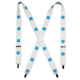 CTM® Men's Big & Tall Elastic Paramedic Print Clip-End Suspenders - One size