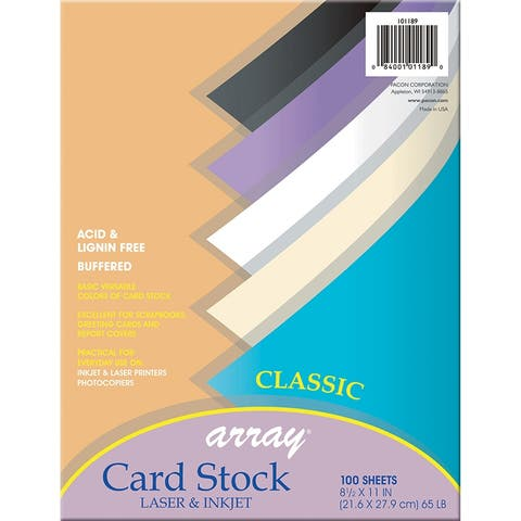 Array (2 pk) array card stock classic 101189bn