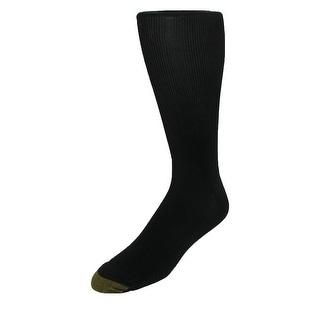 Gold Toe Men's Metropolitan Moisture Control Over the Calf Socks (Pack of 3), Shoe Size 6 - 12 1/2 - One Size