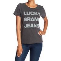 Lucky Brand Gray Womens Size Medium M Lucky Brand Jeans T-Shirt Top